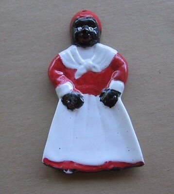 Vintage Black Americana Aunt Jemima Ceramic Wall Hanging Spoon Holder Rest