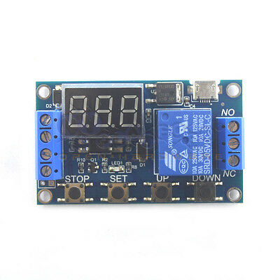 Relay module delay off off trigger delay cycle timing circuit switching