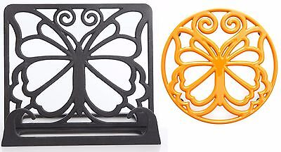 """NEW - The Pioneer Woman Timeless Beauty 2-Piece Cookbook Holder and 8"""" Trivet"""