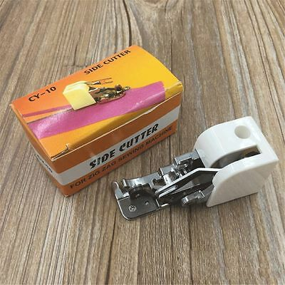 Side Cutter Sewing Machine Accessory Sew Attachment Presser Foot For Low Shank