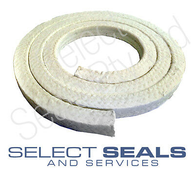 "PTFE  Teflon Gland Packing 6.3 mm (1/4"") PTFE Gland Packing 1 Meter"