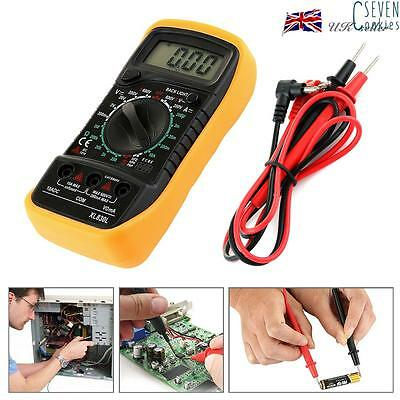 Digital Multimeter LCD Voltmeter Ammeter AC DC OHM Tester Buzzer Current Circuit