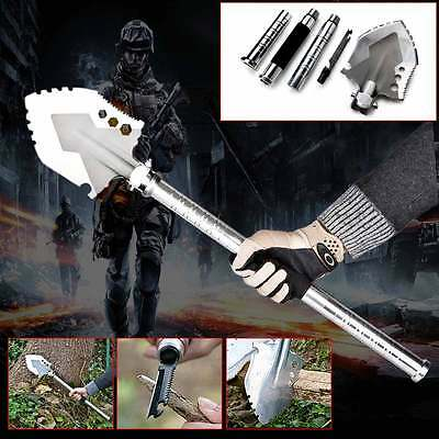 Tactical Folding Camping Hiking Military Army Survival Shovel Spade Gear Kit Set