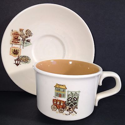 Vtg China Cup & Saucer Americana Taylor Smith Ever Yours Colonial Cape Cod Clean