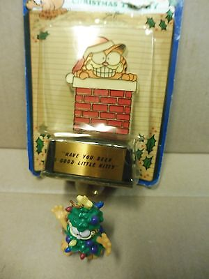 "Lot Garfield christmas trophy ""have you been a good little kitty"" & pvc ornament"