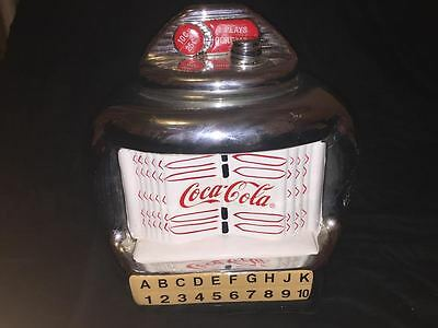 Coca Cola Juke Box Tune Selector  Cookie Jar Chrome plated AWSOME LOOKING