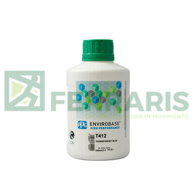PPG Waterbase T412 envirobase body car mixing colour color basecoat tinter 2 lt
