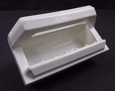 Antique Vintage Fairfacts BiltIn F-196 White Soap Dish with Bar 1940's #2