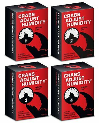 4 Crabs Adjust Humidity Vol 1,2,3,4 Cards Against Humanity Expansion New Brand