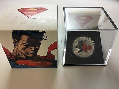 2013 $20 1 oz Superman Man Of Steel Fine Silver Proof Coin 5756/10000