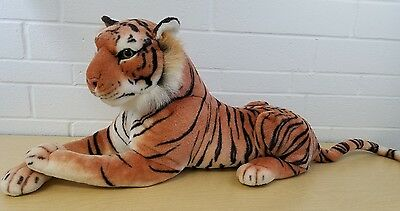 "Best Made Toys Tiger 27"" Lying Down Plush Stuffed Animal Big Cat"