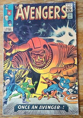 MARVEL Comics AVENGERS Silver age #23 1965