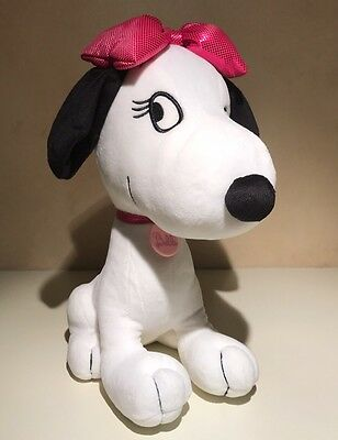 "2014 Peanuts Snoopy's Sister ""Belle"" Sitting Plush Toy with Pink Bow"