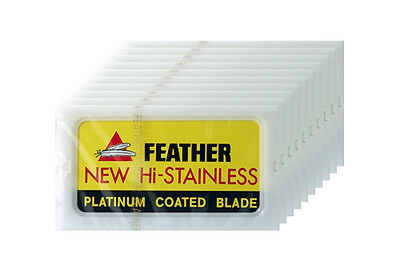 Feather New Hi-Stainless Double Edge Blades for DE Safety Razor (100 Blades)