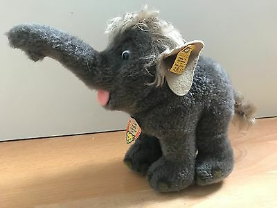 Steiff Elefant Baby Hathi 053020 Walt Disney Made in Germany 70er 80er alt