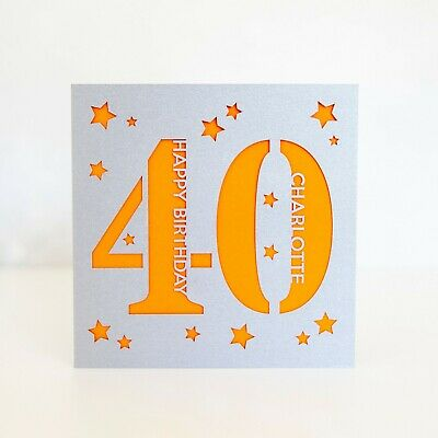 Personalised 40th Birthday Card Daddy Mummy Forty Handmade