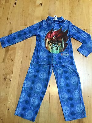 Boys Blue Green Pajamas Pjs Sleep Set 2 Piece Lego Chima Size Large L