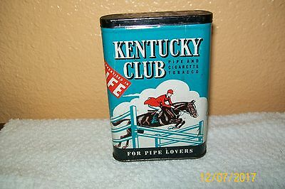 "Vintage Kentucky Club Life pocket tobacco tin 4 1/2""x3""x 1"""