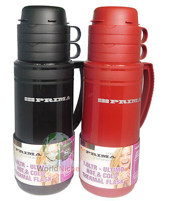 HOT COLD FLASK - Vacuum Thermos flask - Hot & Cold Thermos flasks Red Blue  Black