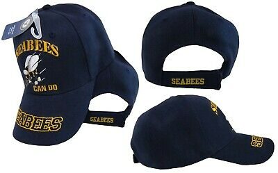 """Seabees U.S. Navy USN """"Can Do"""" Navy Blue Embroidered Cap Hat CAP602R"""