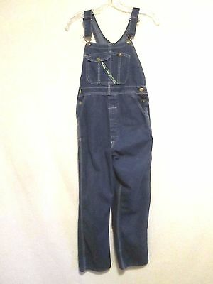 KEY Boys Girls Size 12 Blue Denim 100% Cotton Bib Overalls - Made in USA