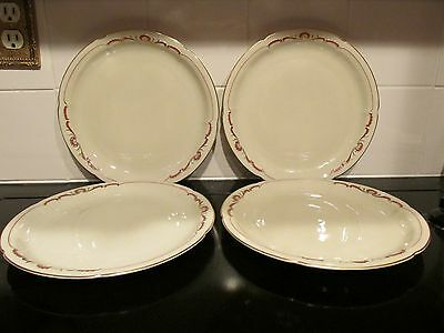 Royal Bayreuth China Set of 4 Dinner Plates - Mark used between 1946 - 1949