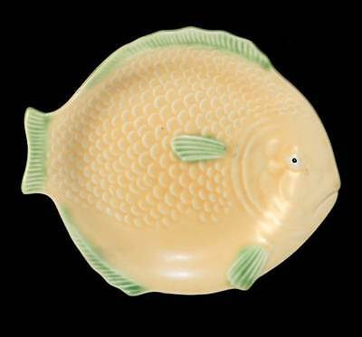 Vintage Shorter & Sons gorgeous satin glaze peach and green fish platter