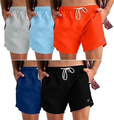 Mens Swimming Shorts Swimwear Beach Casual Mesh Lined Trunks All Sizes S-XXL