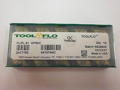 10 new TOOL-FLO V84 NT 8P GP50 Carbide Inserts 0261080N4 TOOLFLO