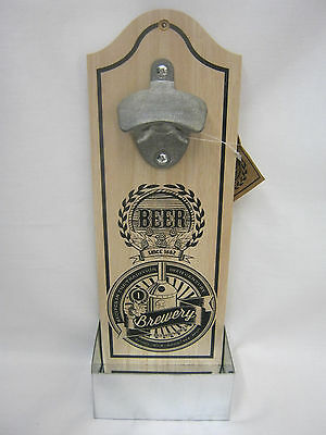 New Sifcom Wall Mounted Crown Cap Bottle Opener Beer K16424