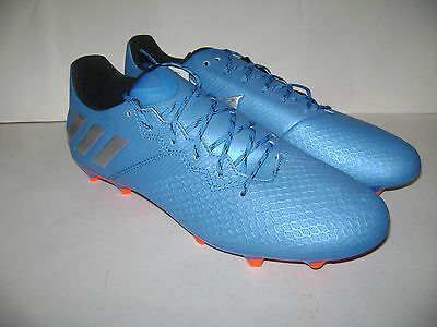 NIB adidas MESSI 16.3 FG Firm Ground Men Soccer Cleats Shoes size 10 Blue S79632