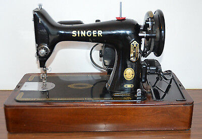 Singer  99K  Antique Vintage Sewing Machine leather HEAVY DUTY