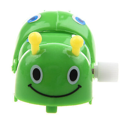 SS New Children Clockwork Spring Toy Green Plastic Cartoon Creeping Insect
