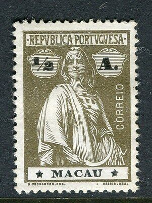 MACAU;  ( Portuguese Col.)  1913 early Ceres issue Mint hinged 1/2a. value