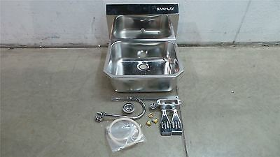Sani-Lav 505L 17 x 14 In Bowl Stainless Steel Wall Mount Hand Sink