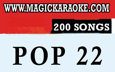 """MAGIC SING """"POP Vol.22"""" Song Chip - 200 English, SONG LIST, Works on ET Models"""