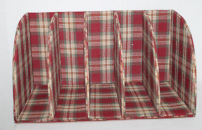 Bill/mail Organizer With Longaberger Orchard Park Plaid Fabric, From Homestead
