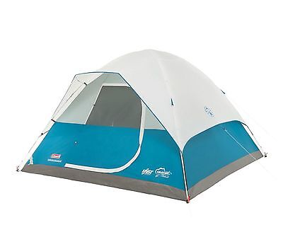 Coleman Longs Peak 6 Person Fast Pitch Family Camping Dome Tent   10' x 10'
