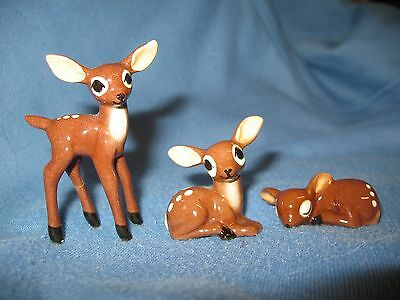 Hagen Renaker lot of 3 old deer fawns A-32 A-96 A-85 from 50s NR Free shipping