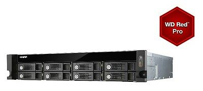 QNAP TVS-871U-RP-i3-4G 16TB (8x2TB WD RED PRO)8 Bay Rack with 4GB RAM 24 Months