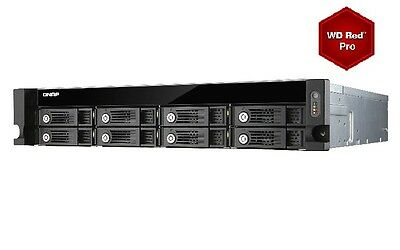 QNAP TVS-871U-RP-i3-4G 48TB (8x6TB WD RED PRO) 8 Bay Rack with 4GB RAM 24 Months