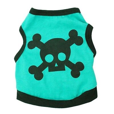 DOG TOP JUMPER CHIHUAHUA YORKIE PUPPY TOY small XS 16CM TEACUP GREEN SCULL XXS