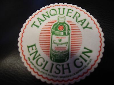 "VINTAGE ""Tanqueray English Gin"" cloth coasters PACKAGE of 45"
