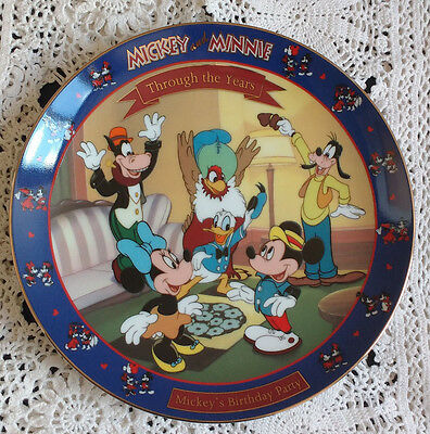 MICKEY AND MINNIE THROUGH THE YEARS Mickey's 65th Birthday Plate
