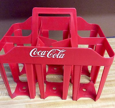 VINTAGE COCA COLA SIX PACK PLASTIC CARRIER FOR BOTTLES FROM 1970's Collectable