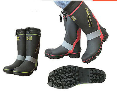 Mens Waterproof Rain Hunting Non Slip Fishing Boots Long Boots for Sea Fishing