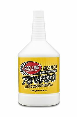Red Line 57904 (75W90) Synthetic Gear Oil, 1 Quart, New