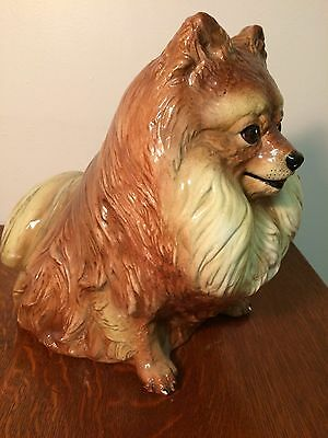 """""""RARE"""" Vintage """"TOWNSENDS"""" Hand Painted ceramic Sitting dog Expressive Face"""