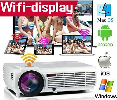 Projecteur LED Android 5.0 WIFI 3500 LUMENS Full HD HDMI 1280x800 P Home Cinema