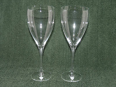 NEW - Pair of Orrefors VINTAGE CLEAR Crystal Water Goblets - 2650